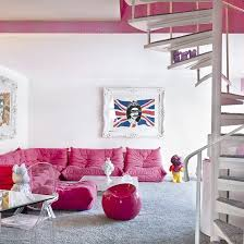 pink table l interior decoration cozy pink room with l shaped pink sectional