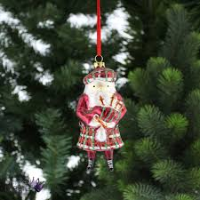 festive vintage glass bagpipe scottish santa tree home