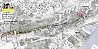 Map Of Toronto And New York by 25 Million Project Reimagines Area Under Gardiner With Paths