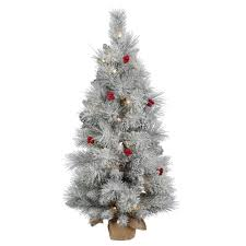 frosted artificial tree lights decoration