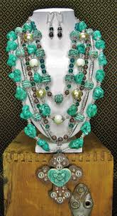 multi statement necklace images Southwest grandeur western statement necklace multi strand png