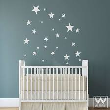Wall Nursery Decals Baby Nursery Decor Twinkle On Baby Boy Nursery Decals