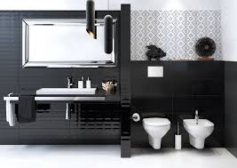 fascinating black and white bathroom ideas decor crave