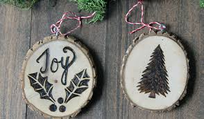 rustic wood ornaments darby smart