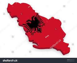Map Of Albania Map Albania Flag Republic Albania Stock Illustration 81857674