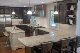 Dark Kitchen Cabinets With Light Granite Top 5 Light Color Granite Countertops
