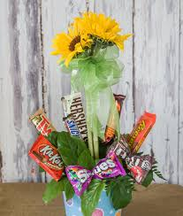 candy bar bouquet candy bar bouquet standard sunflower flats