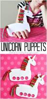 Kids Fun Craft - incredibly cute and playful unicorn puppets unicorn crafts
