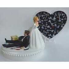 mechanic cake topper wedding cake topper auto mechanic grease monkey car shop tools