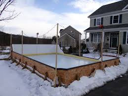 How To Build A Backyard Ice Rink by Flooding A Backyard Ice Rink Backyard And Yard Design For Village