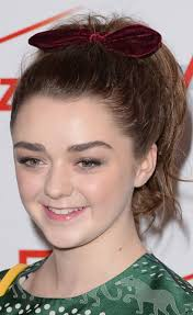 ribbon ponytail maisie williams high ponytail with ribbon casual party