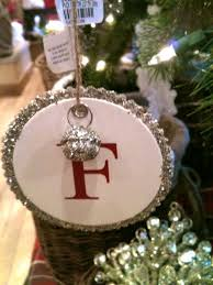 potterybarn inspired monogram ornament its overflowing