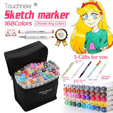 2018 dhl touchnew art marker set alcohol based copic sketch marker