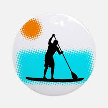 stand up paddle board ornament cafepress