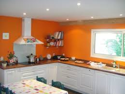 deco cuisine orange cuisine moderne pays idees de decoration