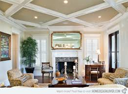 15 beautiful traditional coffered ceiling living rooms home