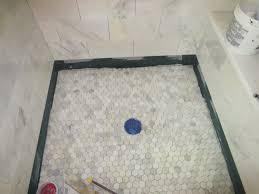 How To Tile A Bathroom Shower Floor Tiling A Shower Floor Around Drain Tile Flooring Ideas