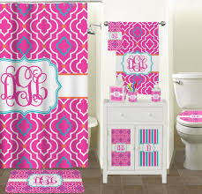 colorful trellis full print bath towel personalized potty