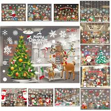 au christmas xmas window glass wall stickers decals restaurant image is loading au christmas xmas window glass wall stickers decals