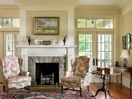Living Room Without Rug Mantle Without Fireplace Living Room Contemporary With Gray Prints