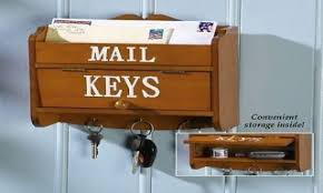Wall Hanging Mail Organizer Rack Organizer Wood Mail And Key Holder For Wall Wooden Mail And