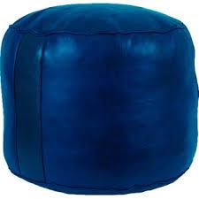 Navy Blue Leather Ottoman Navy Blue Leather Ottoman Wayfair