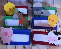 Farm Theme Baby Shower Decorations 12 Puppy Dog Theme Food Tents Place Cards Birthday