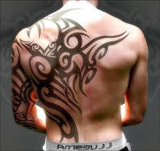 tribal design on back tattoos tribal