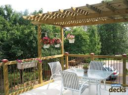 Shade For Pergola by Aluminum Decking U0026 Deck Rail Deck Design 3 Reasons To Have A