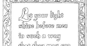 coloring pages kids adron printable matthew 5 16