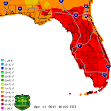 temperature map florida wildfire spreads across florida current conditions and term