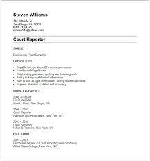 Shipping And Receiving Resume Samples by Court Reporter Resume Example Free Templates Collection