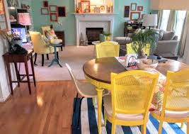 Living And Dining A Bright And Bold Living And Dining Room Truer Design