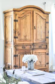 Tv Armoire Secondhand Rustic Tv Armoire Little Glass Jar