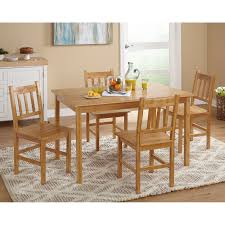 Bamboo Dining Table Set Simple Living Bamboo 5 Dining Set Free Shipping Today