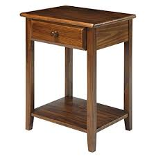 nightstand l with usb port amazon com casual home 647 24 night owl nightstand with usb ports
