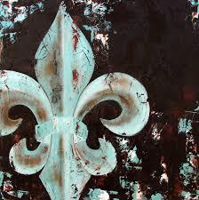 Fleur De Lis Home Decor Lafayette La Fleur De Lis Original Painting On Canvas