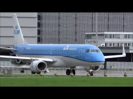 klm revised paint embraer 190 take off at zurich airport 21 09