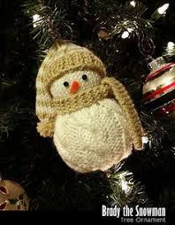 knitted snowman pattern free pattern from aok corral