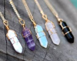 real crystals necklace images Crystal necklace etsy jpg
