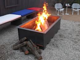 outdoor custom metal fire pit with square fire pit shaped and
