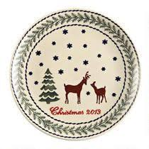 pottery deer pine dinnerware collection tree