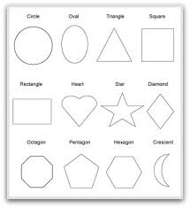 geometric shapes to print cut color and fold