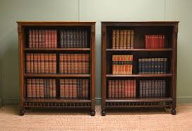 unusual pair of victorian oak arts u0026 crafts antique open bookcases