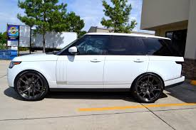 land rover white black rims full size range rover on 24