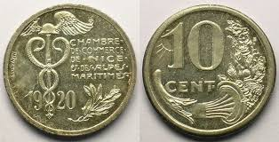 chambre de commerce 06 10 cent 1920 emergency coins and tokens 06 chambre de