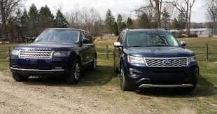 white land rover lr4 range rover vs explorer platinum