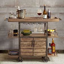 Dining Room Serving Cart by Rustic Bar Cart Portable Serving Tray Wine Beverage Drink Tea