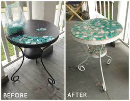 patio table makeover patio table mosaics and patios