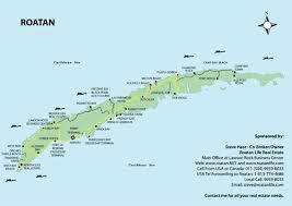 map of roatan honduras maps of roatan island in the caribbean area